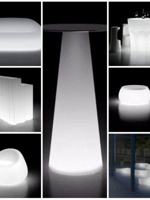Svítící LED nábytek